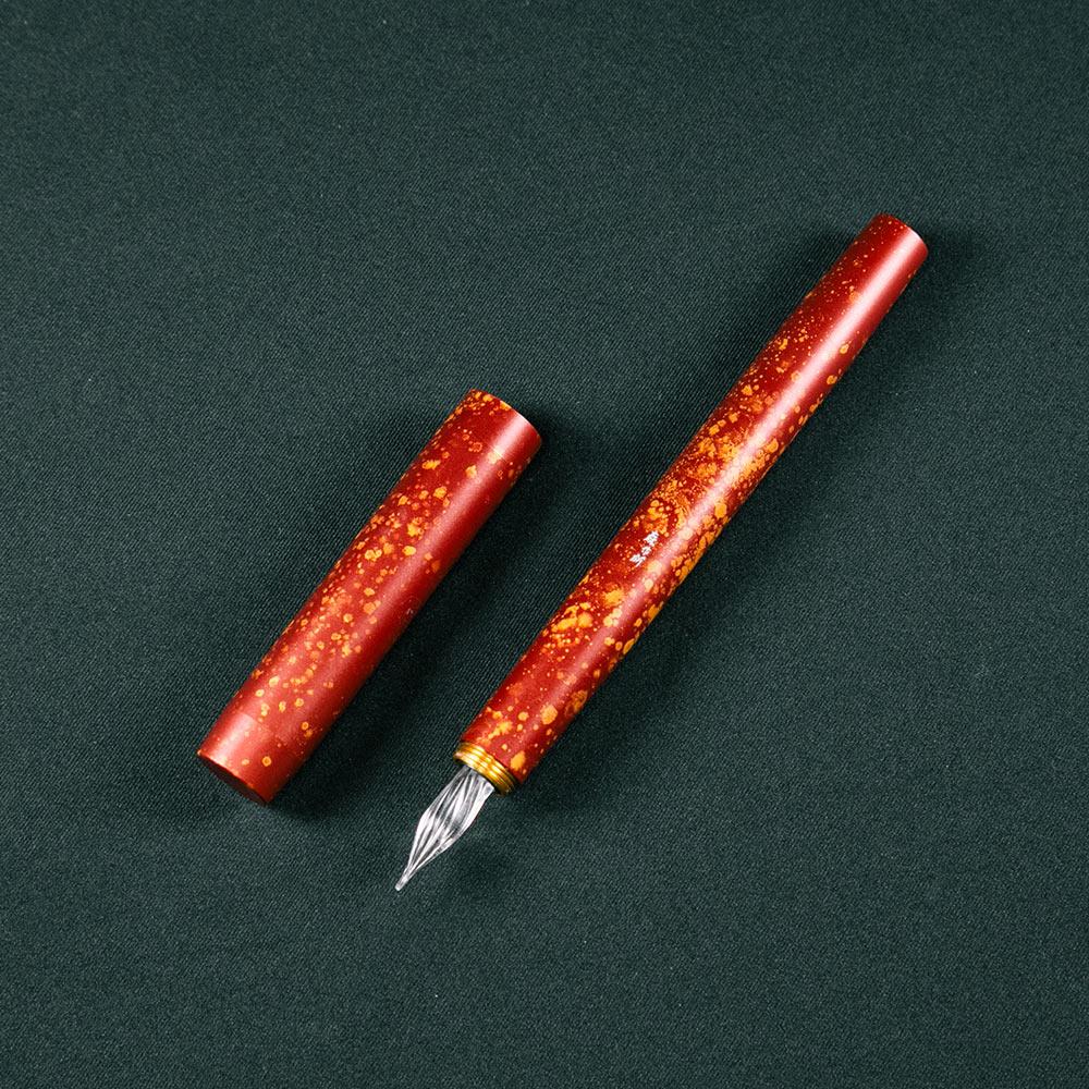 森作所|零式玻璃尖鋼筆星辰系列(紅星辰)