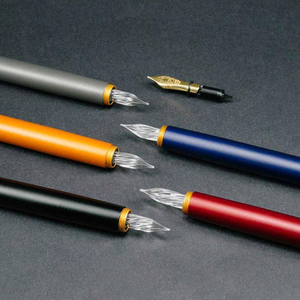 森作所|零式玻璃尖鋼筆(橘色)