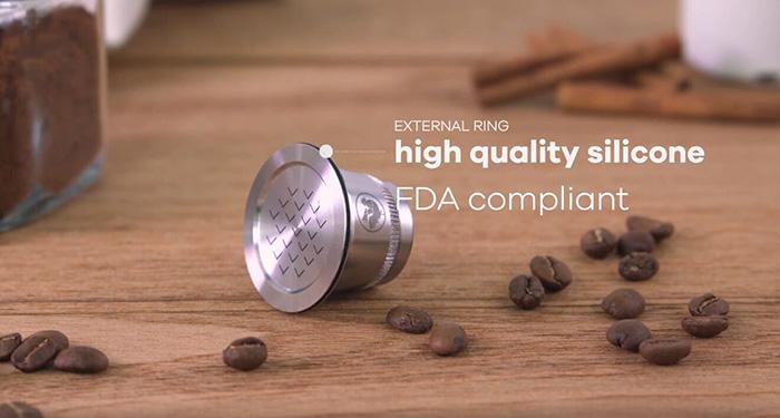 義大利 WAYCAP|不鏽鋼環保咖啡膠囊容器組(2入)-Complete Kit