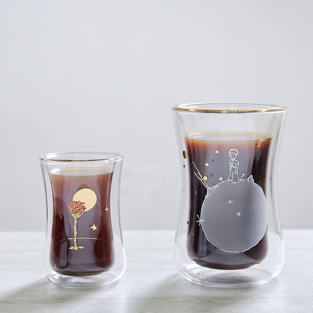 想望咖啡|想望星球玫瑰-小王子大迷布+小迷布雙層玻璃杯組合