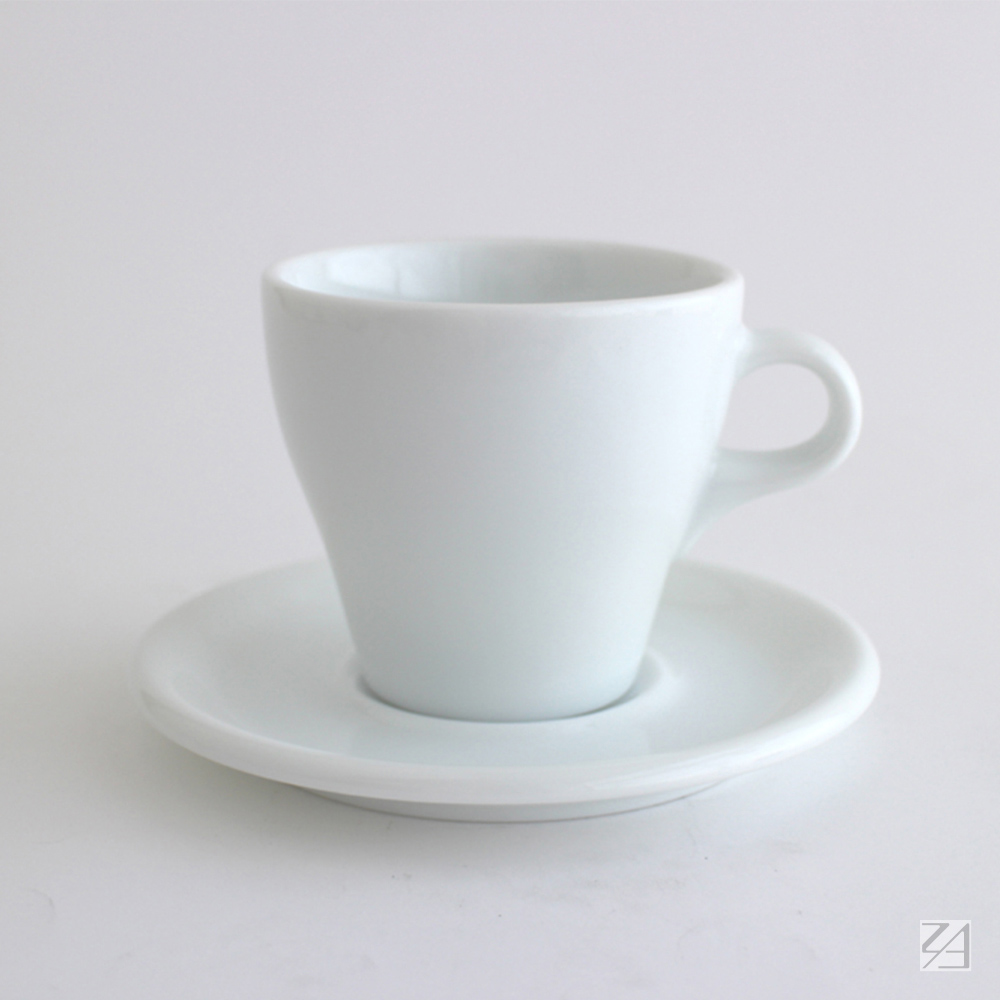 日本ORIGAMI 摺紙咖啡陶瓷杯組 拿鐵杯 250ml (純白色)