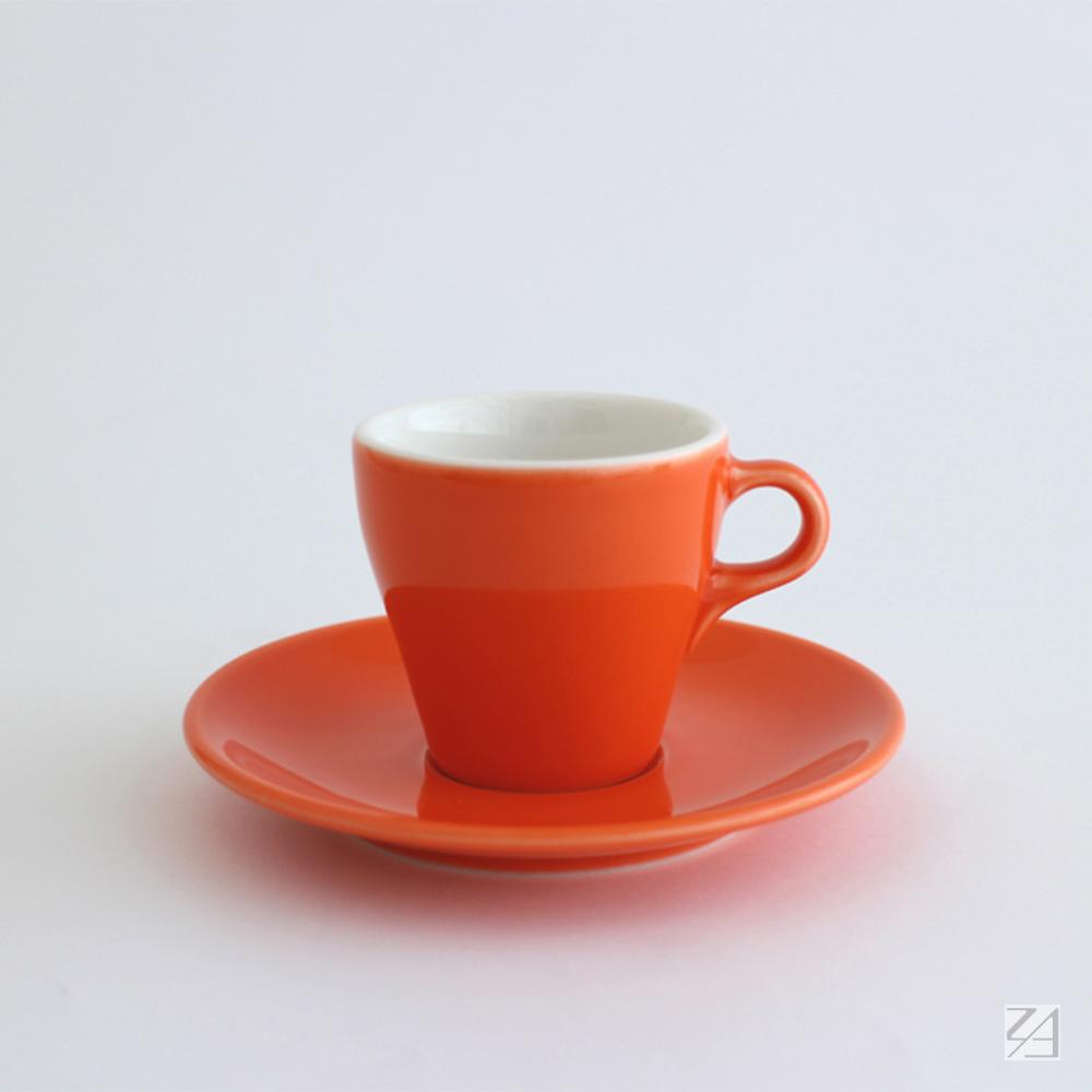 日本ORIGAMI|摺紙咖啡陶瓷杯組 卡布杯 180ml (柑橘色)