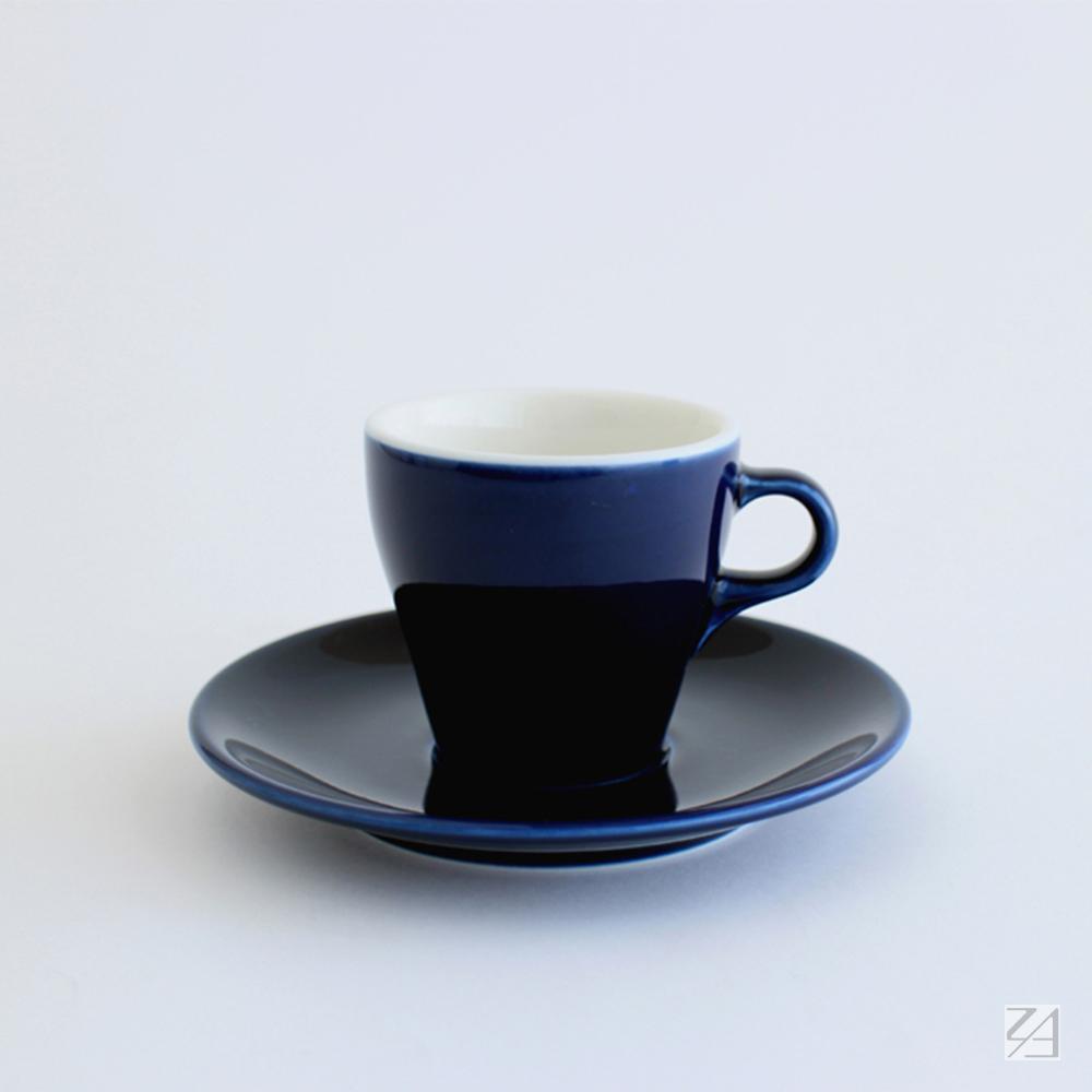 日本ORIGAMI|摺紙咖啡陶瓷杯組 卡布杯 180ml (湛藍色)