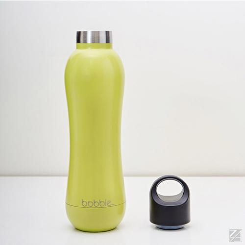 美國 bobble insulate 曲線雙層保溫瓶 442ml(檸檬黃)