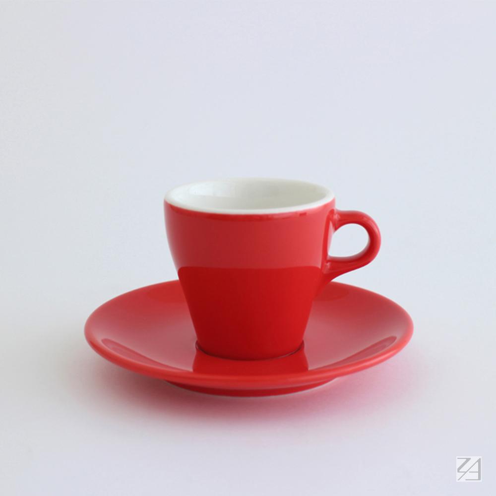 日本ORIGAMI|摺紙咖啡陶瓷杯組 卡布杯 180ml (紅色)