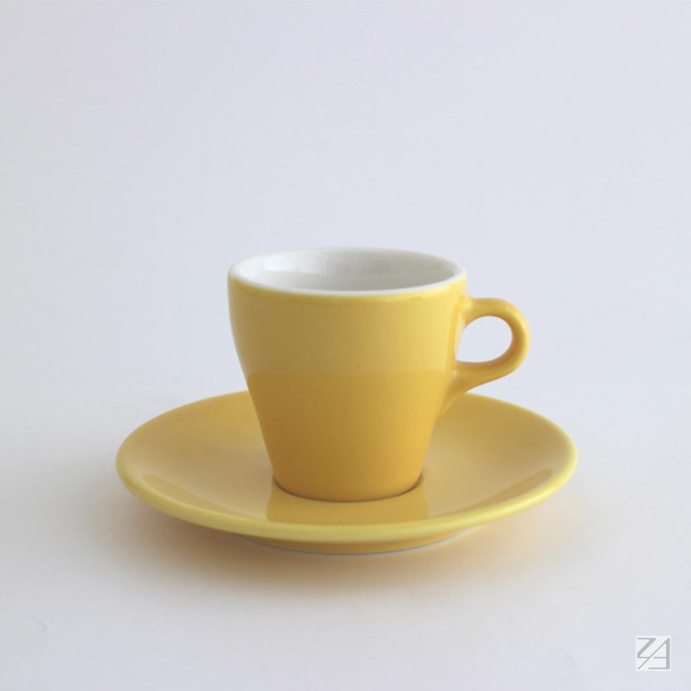日本ORIGAMI|摺紙咖啡陶瓷杯組 卡布杯 180ml (蛋黃色)