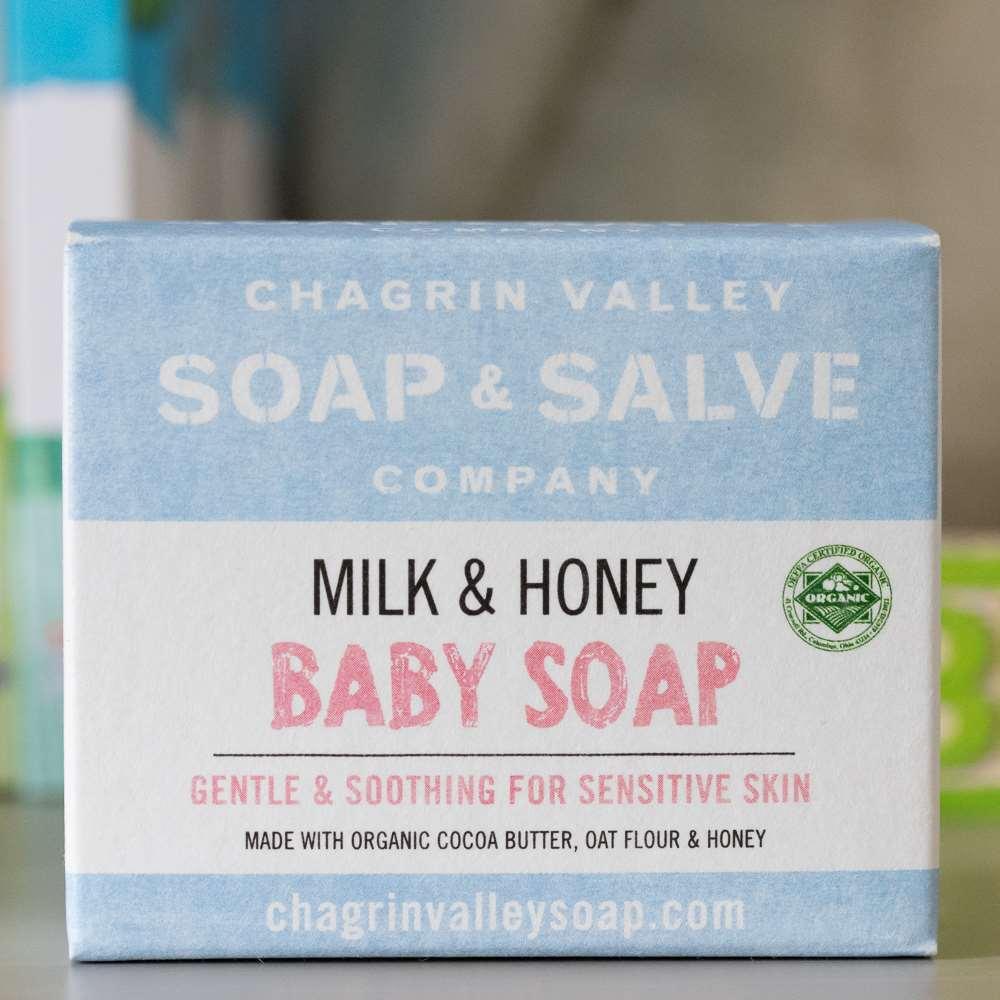 美國Chagrin Valley 寶寶專用天然有機蜂蜜山羊奶手工皂 3.5 OZ
