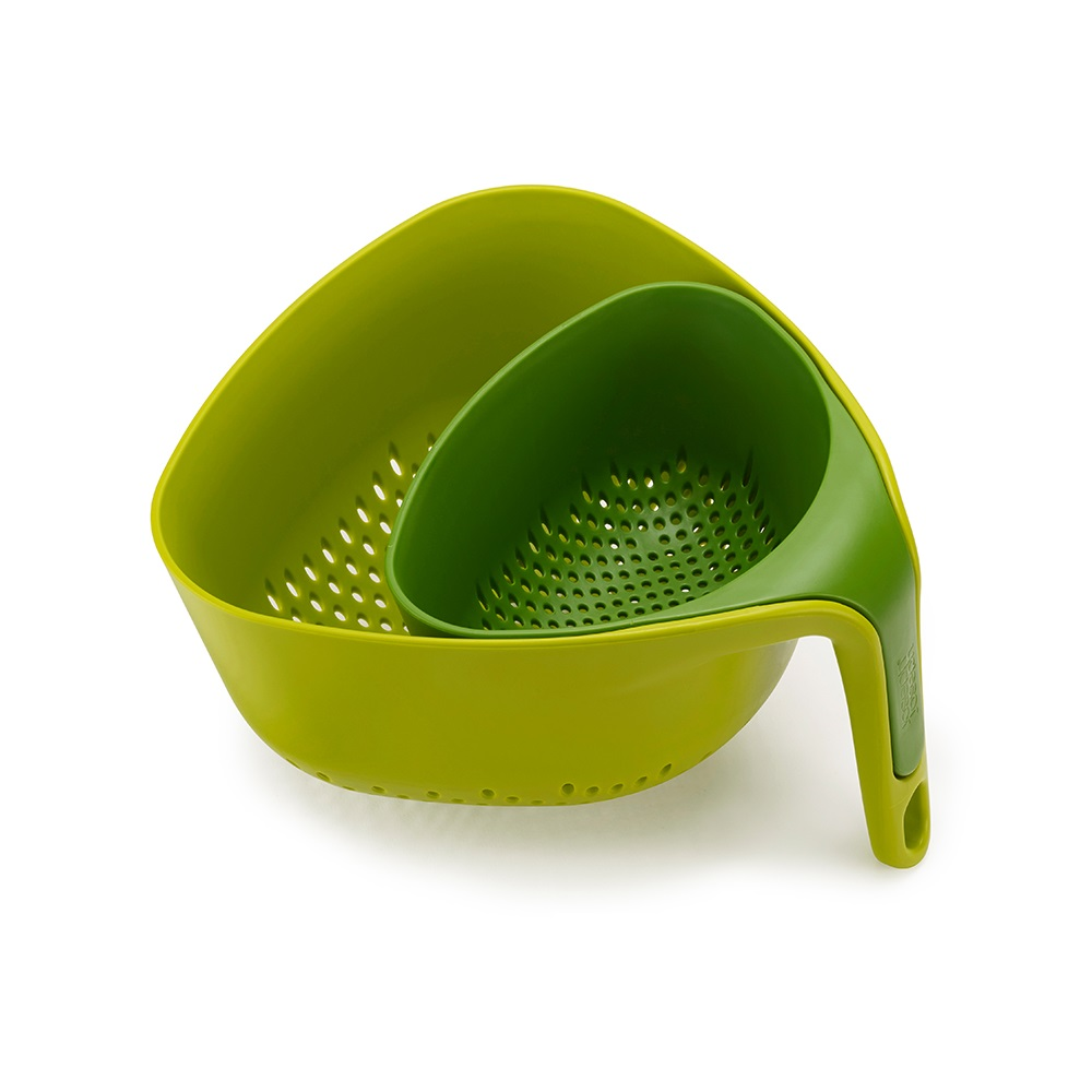 Joseph Joseph|英國創意餐廚  Nest 濾籃二件組(綠)