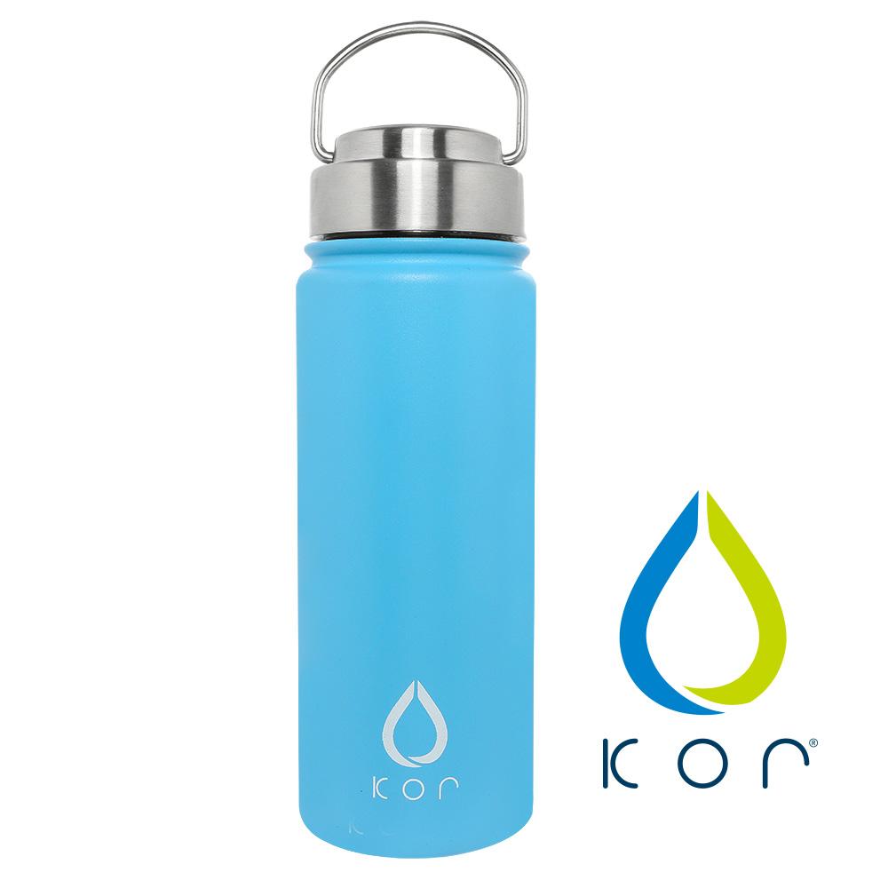 美國KORwater|ROK夏日搖滾不鏽鋼保冷保溫瓶-玩酷藍