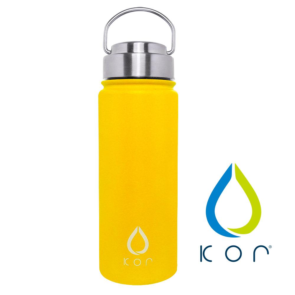 美國KORwater|ROK夏日搖滾不鏽鋼保冷保溫瓶-搖滾黃