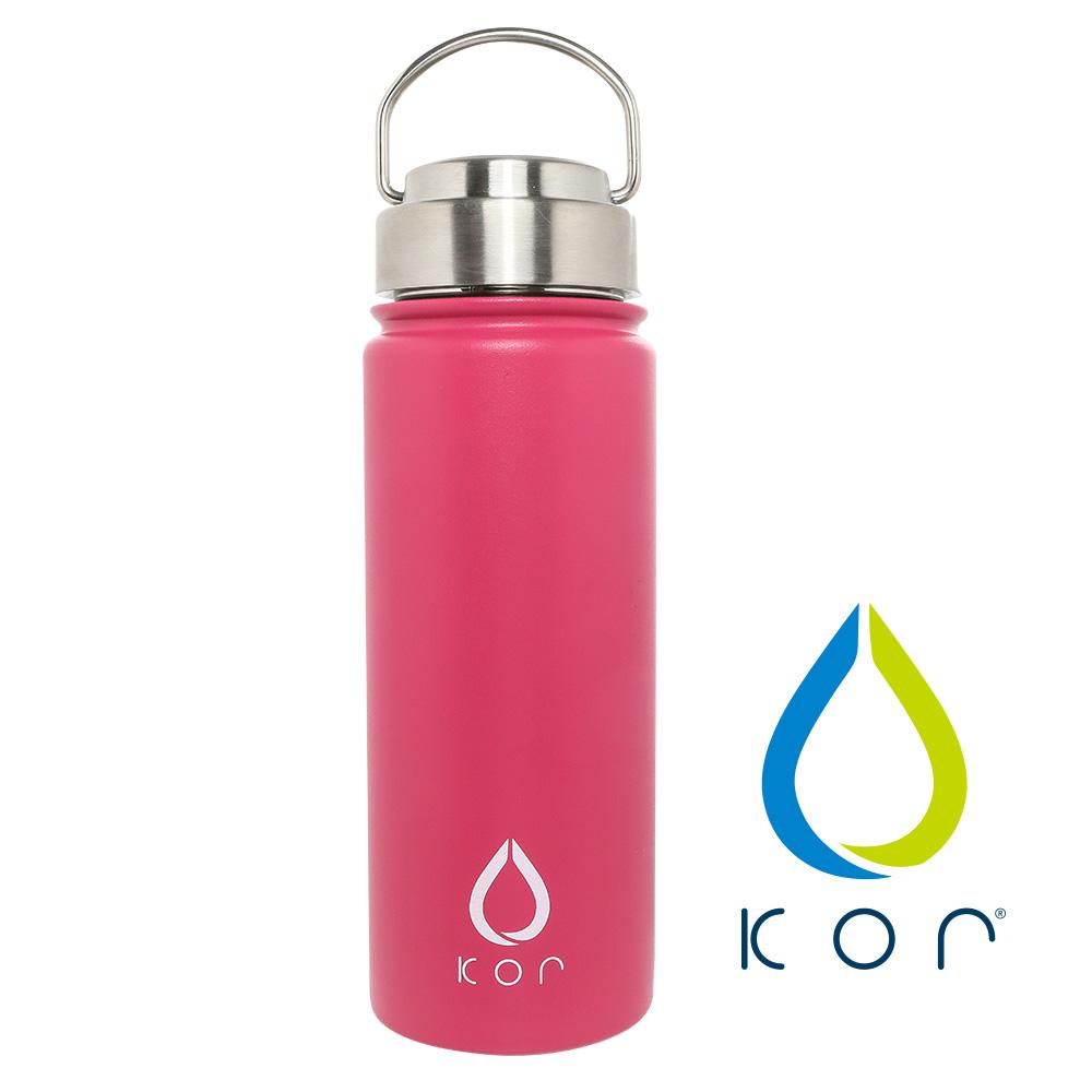 美國KORwater|ROK夏日搖滾不鏽鋼保冷保溫瓶-個性粉