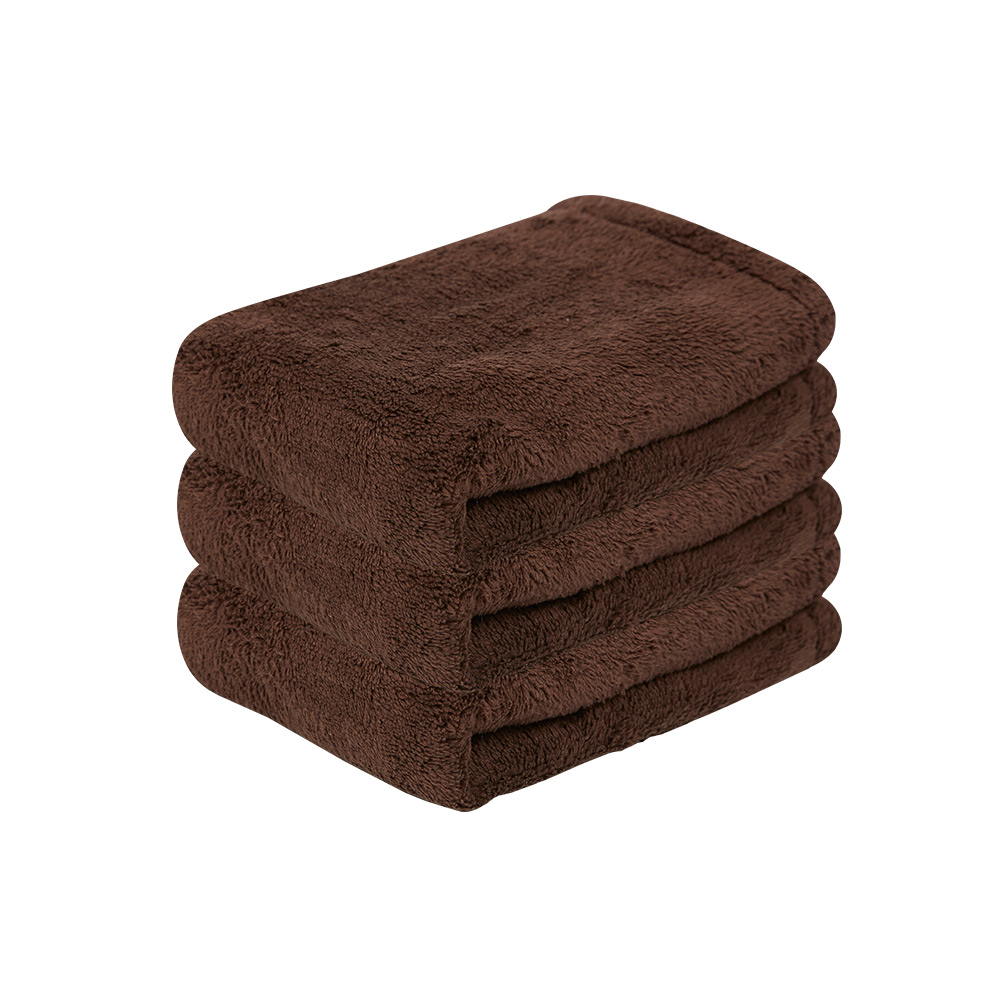 Microdry|舒適快乾方巾-巧克力3入組