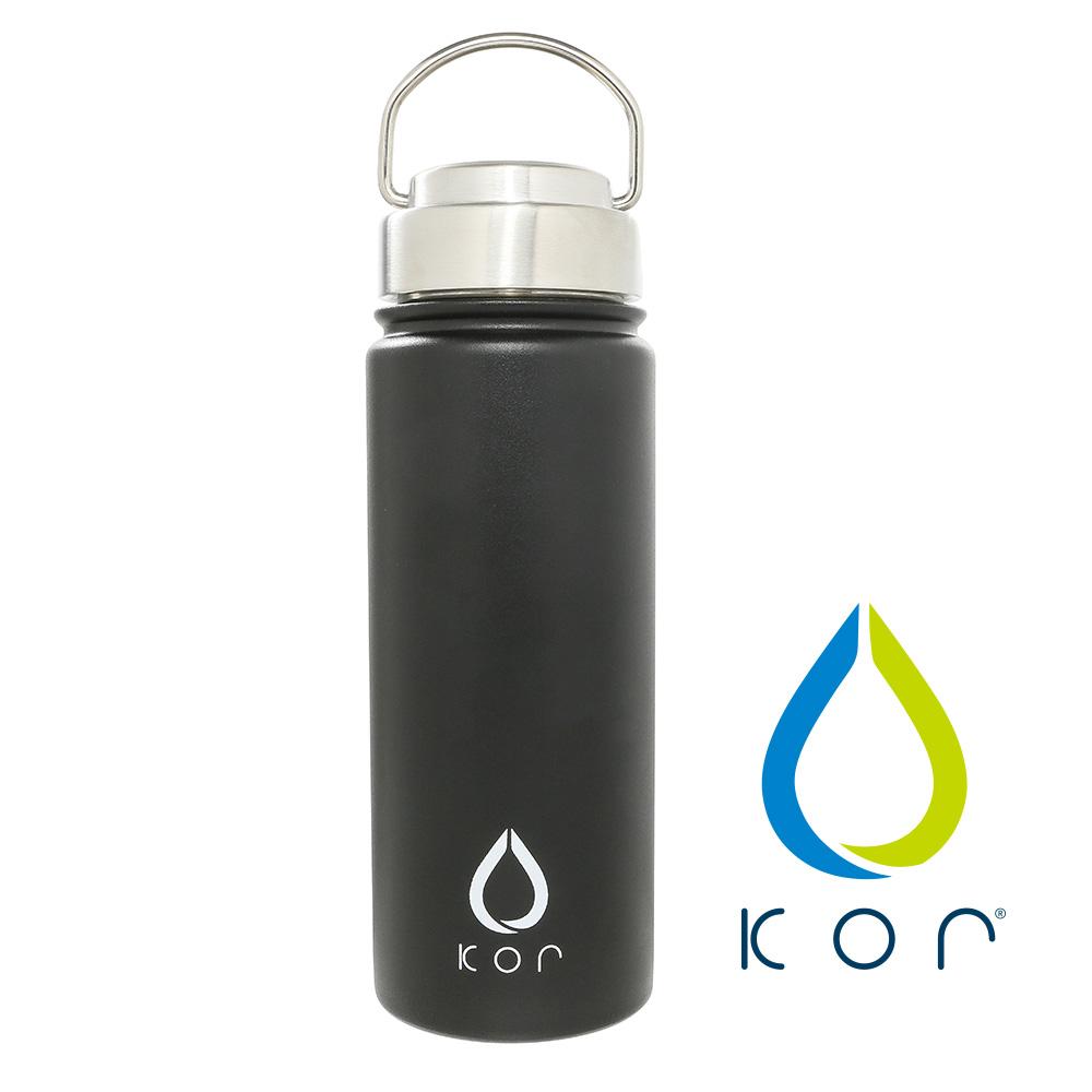 美國KORwater ROK304不鏽鋼隨身保冷保溫瓶-尊爵黑/532ml