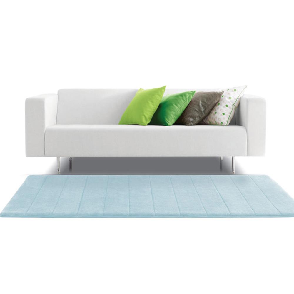 Microdry|舒適記憶綿浴墊-天際藍/加長型(61x147cm)