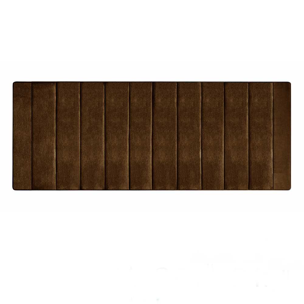 Microdry|舒適記憶綿浴墊-巧克力/加長型(61x147cm)