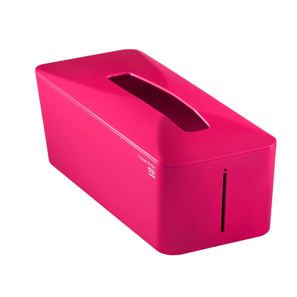 Unique Art Tissue. Know自動彈升面紙盒  (巴黎紅)
