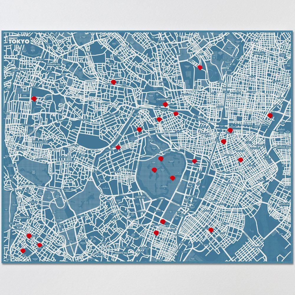 palomar|拼城市地圖東京 藍色