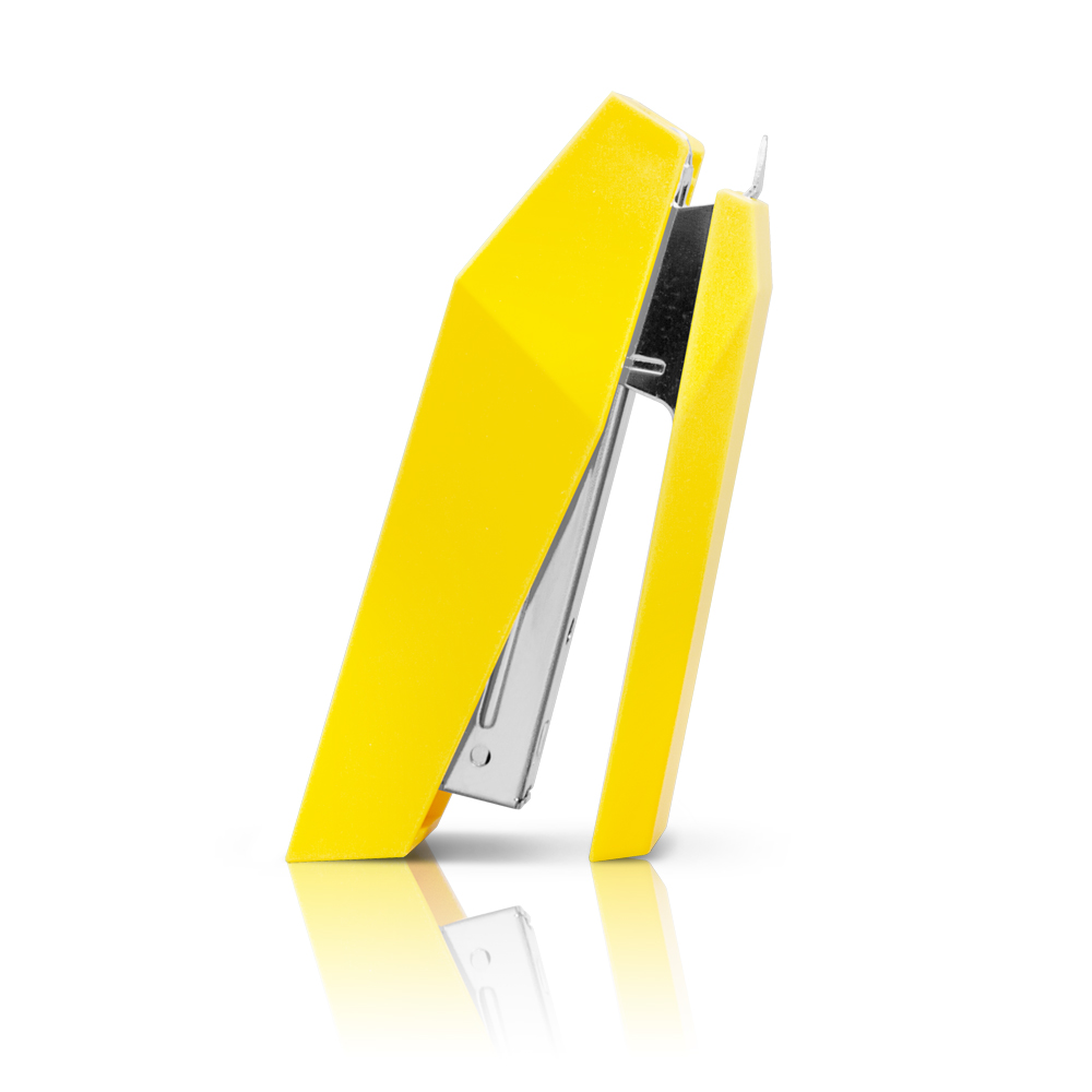 urban prefer|Edgy切面 十號針釘書機 黃色