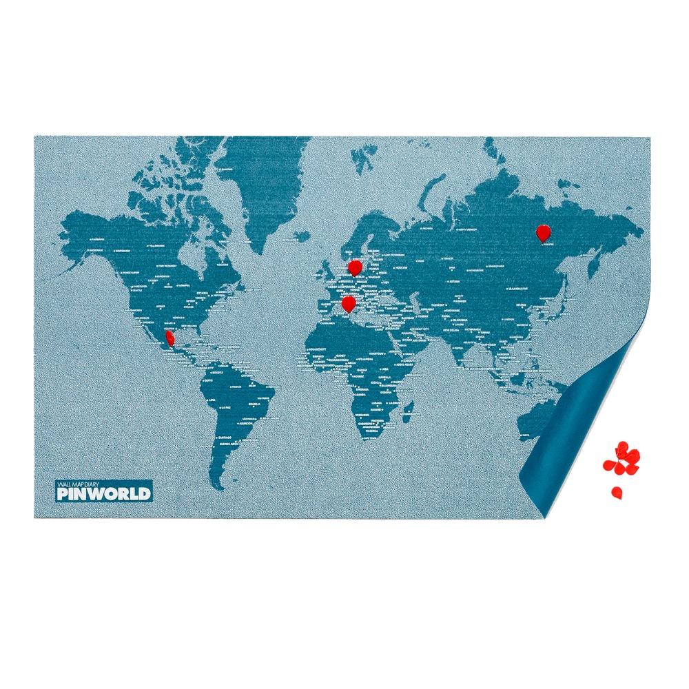 palomar|拼世界地圖 mini版 / 藍色