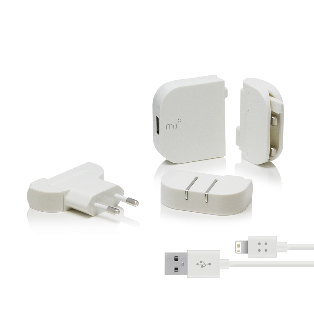 urban prefer 風格選物|MU 旅行轉接頭 USB單孔2.4A 白色
