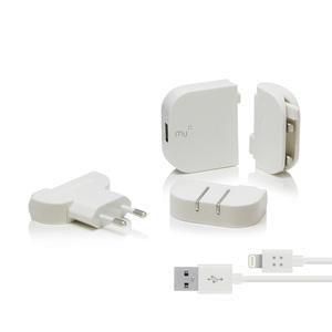 MU | 旅行轉接頭 USB單孔2.4A 白色