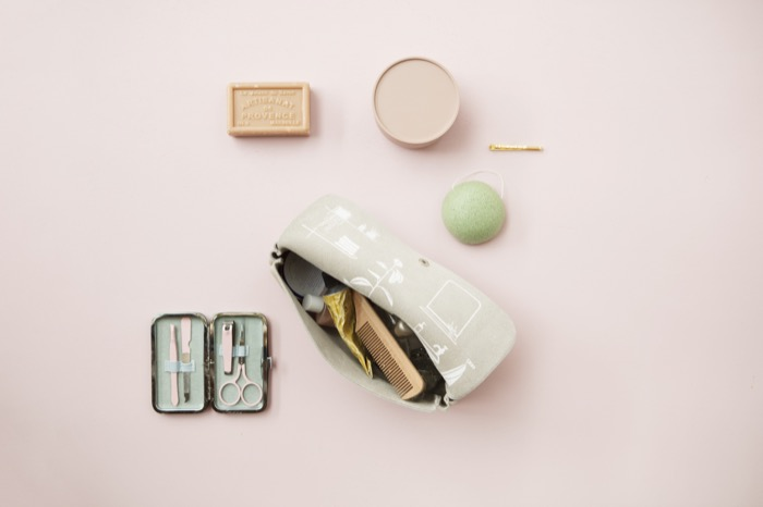 Keeice|時光膠囊化妝包-薔薇粉