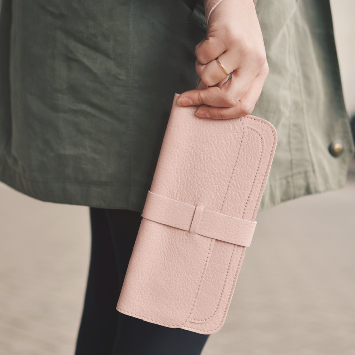 Keeice|最高機密手拿包-薔薇粉