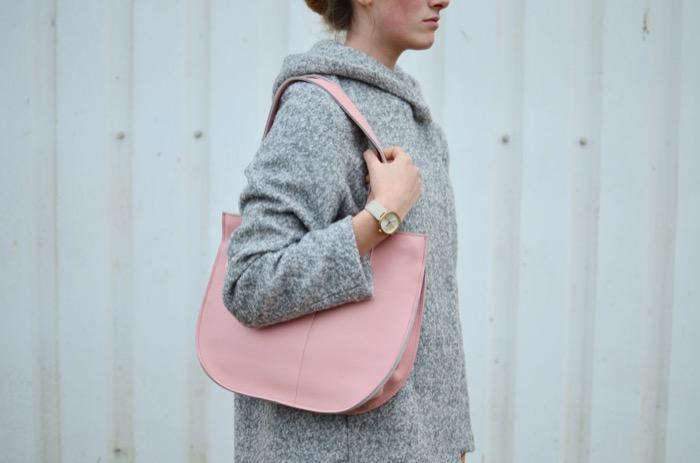 Keecie|悠閒的熊托特包-薔薇粉