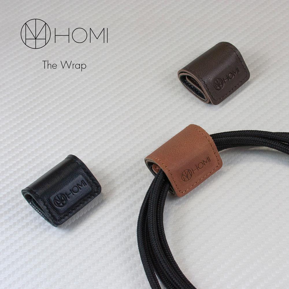 HOMI|WRAP 磁鐵吸附羊皮捲線器 (三入)