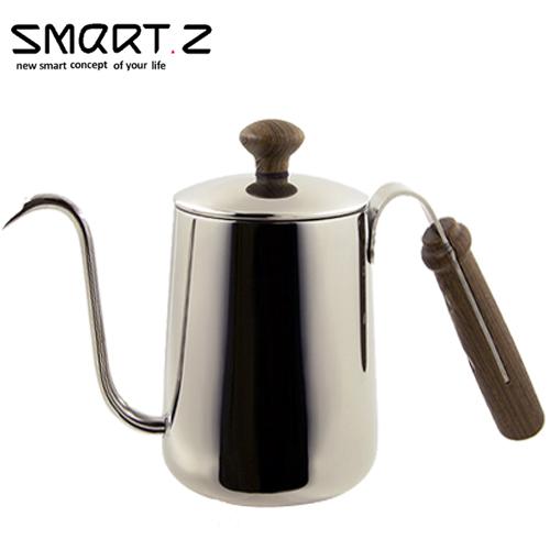 SMART.Z|頂級雞翅木咖啡沖壺 不鏽鋼原色 0.55L