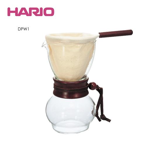 HARIO 濾布手沖咖啡壺組 DPW1 1~2杯量