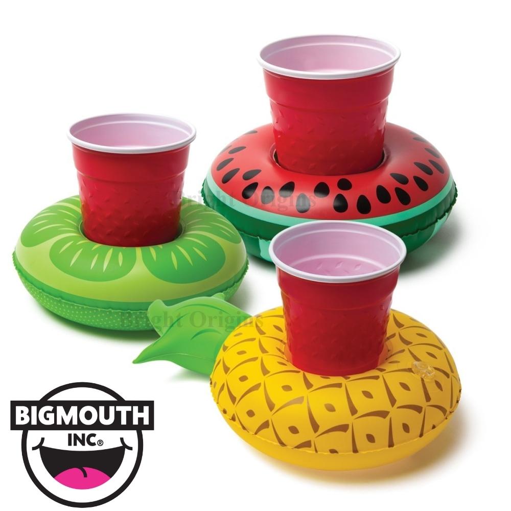 美國 Big Mouth 造型飲料杯游泳圈 水果系列