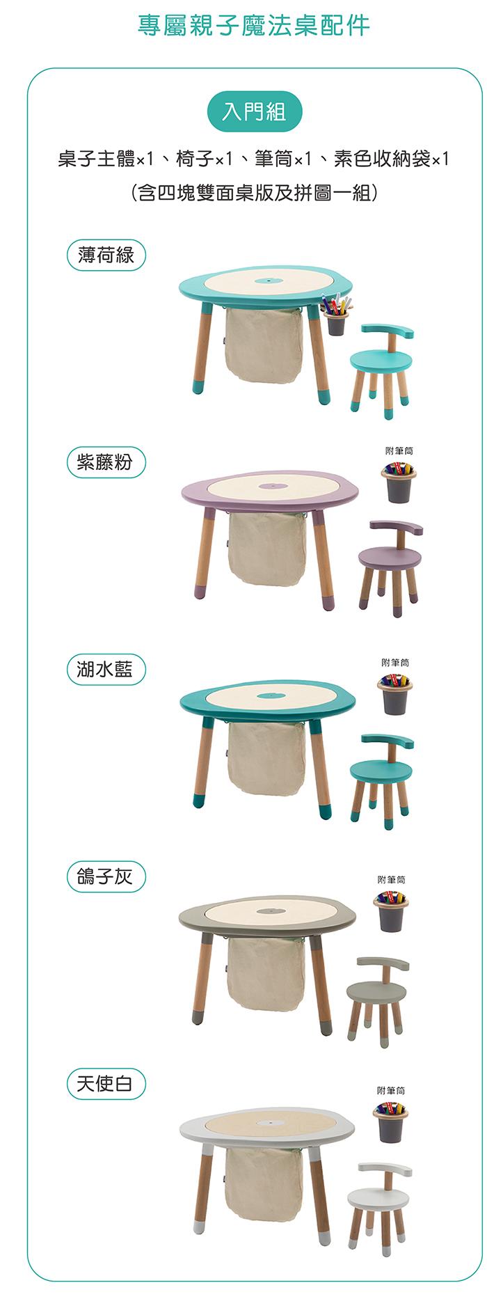 NOMI|MUTable 親子魔法成長桌(入門組)- 薄荷綠