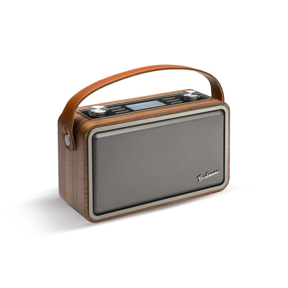 Goodmans HERITAGE PORTABLE II 經典復古攜帶型藍牙WIFI音響 - 原木色