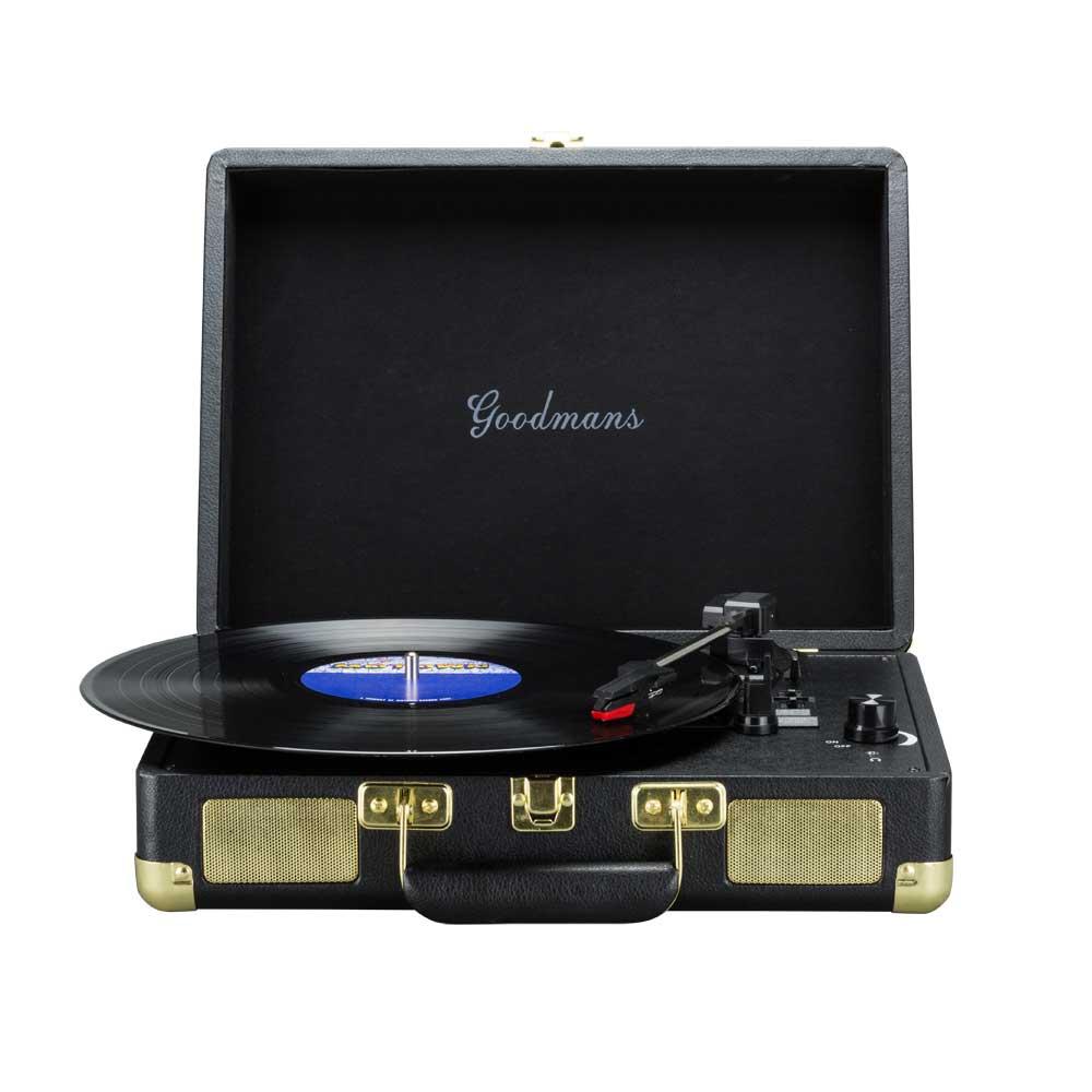 Goodmans|Ealing Turntable 英國手提箱黑膠唱片機 - 黑色