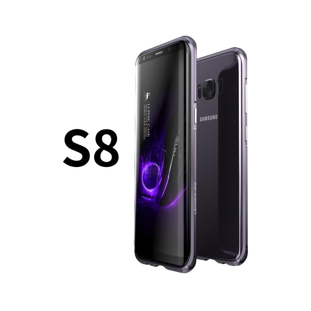 LUPHIE|SAMSUNG S8 鋁鎂合金 防摔金屬邊框 手機殼 保護殼 - 晶墨黑