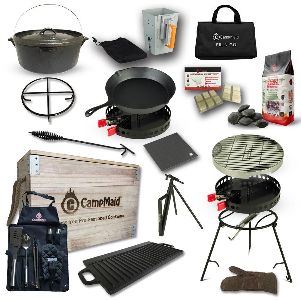 Campmaid|美國多功能戶外露營烤肉木箱(豪華組)