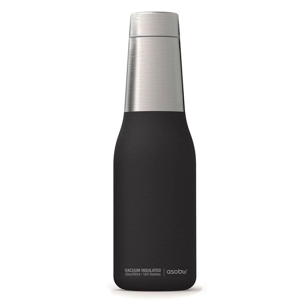 Asobu |不鏽鋼繽紛雙層保溫瓶-時尚黑