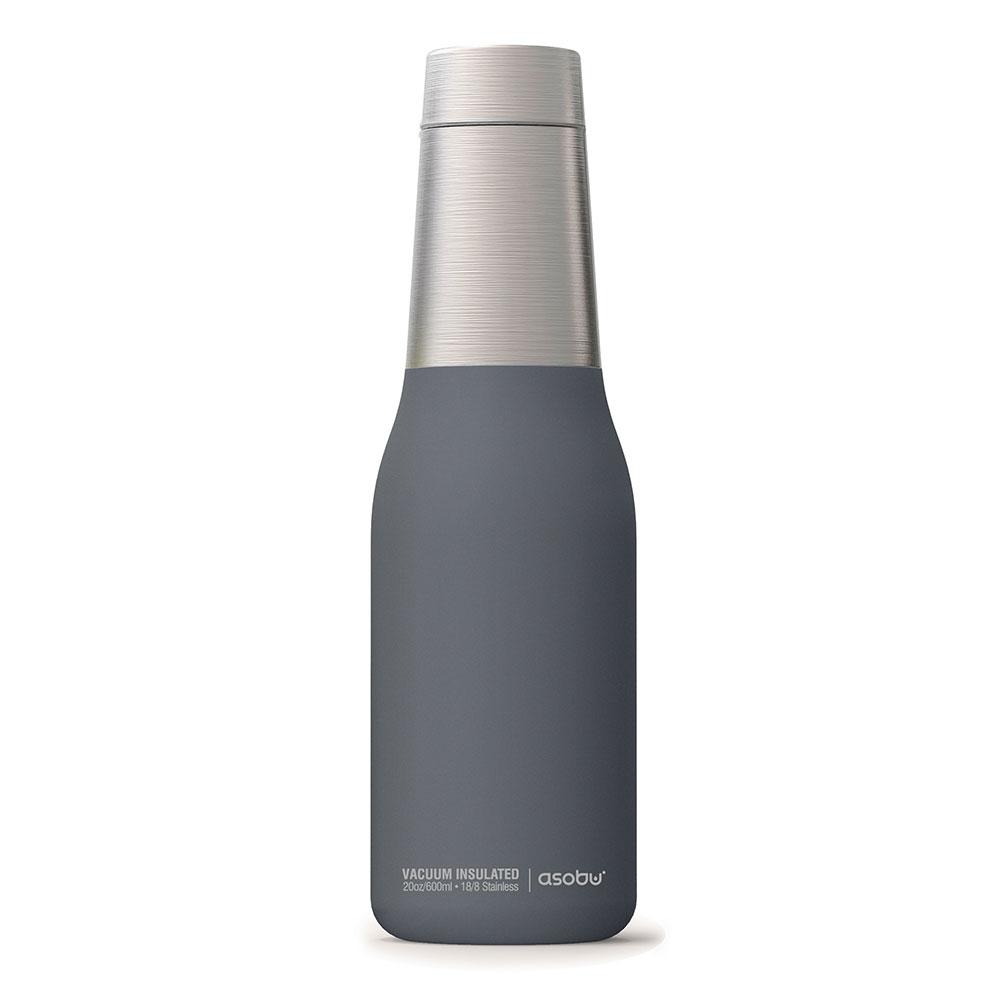 Asobu |不鏽鋼繽紛雙層保溫瓶-濛濛灰