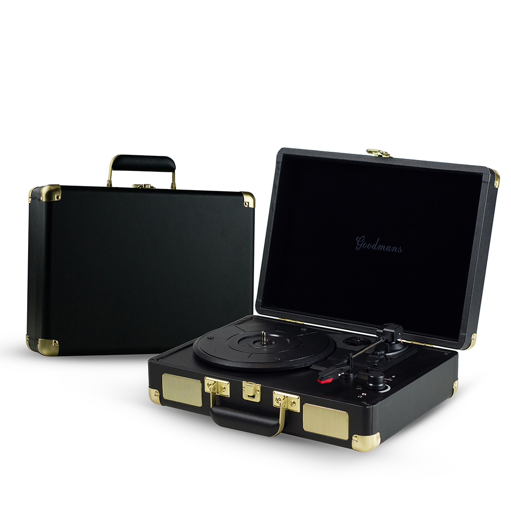 DB|Goodmans Ealing Turntable 英國手提箱黑膠唱片機+DB 復古可攜黑膠收納箱