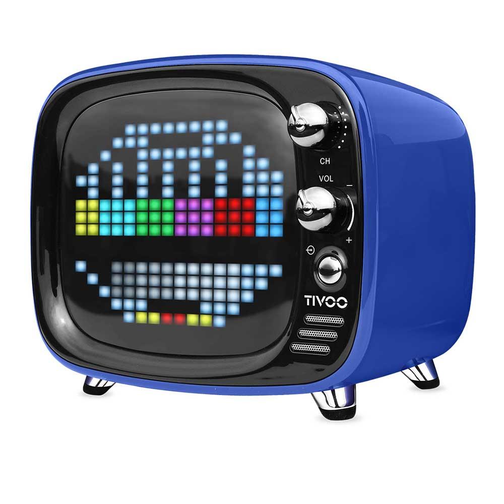 Divoom|Tivoo 智慧復古電視藍牙喇叭 - 海軍藍