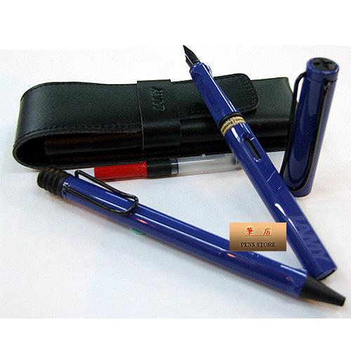 LAMY│狩獵者系列藍鋼筆+原子筆禮盒對筆組