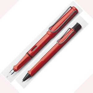 LAMY│狩獵者系列 紅鋼筆+原子筆對筆