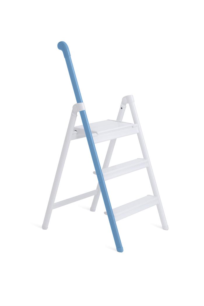 長谷川|單邊扶手設計梯 (藍色)-3階(58cm) SS-3BU