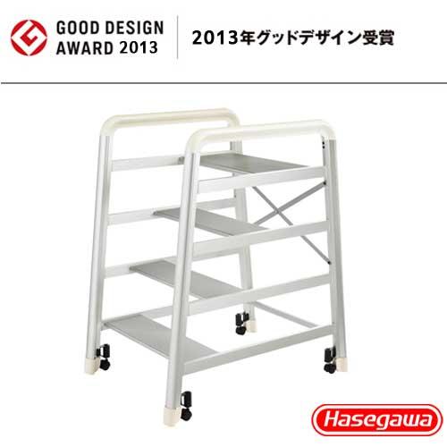 長谷川 Camber DE-4S 設計傢俱梯 銀色-4階(79cm)