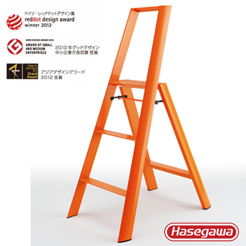 長谷川 Hasegawa 設計好梯|Lucano設計傢俱梯 三階橘色-3階(79cm)