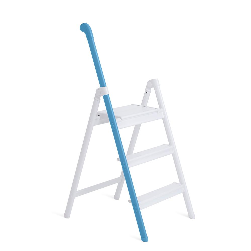 長谷川 單邊扶手設計梯 (藍色)-3階(58cm) SS-3BU
