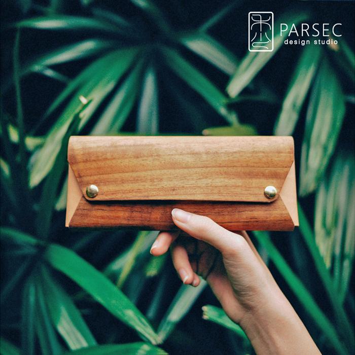PARSEC|樹革花梨筆袋