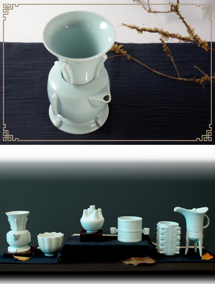 (複製)TALES 神話言│典藏故宮.8福運轉茶器(2件式)-番蓮藍