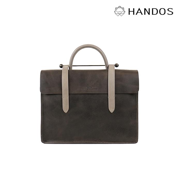 HANDOS|Musician 皮革音譜手提包 - 倫敦灰